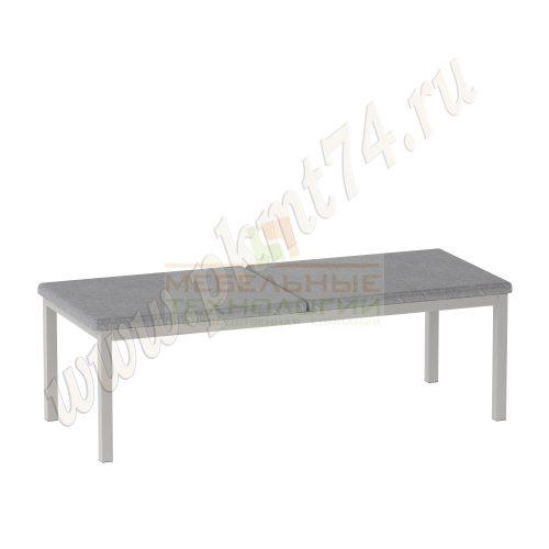 Банкетка для офиса с мягким сиденьем MT 05-7 Серый