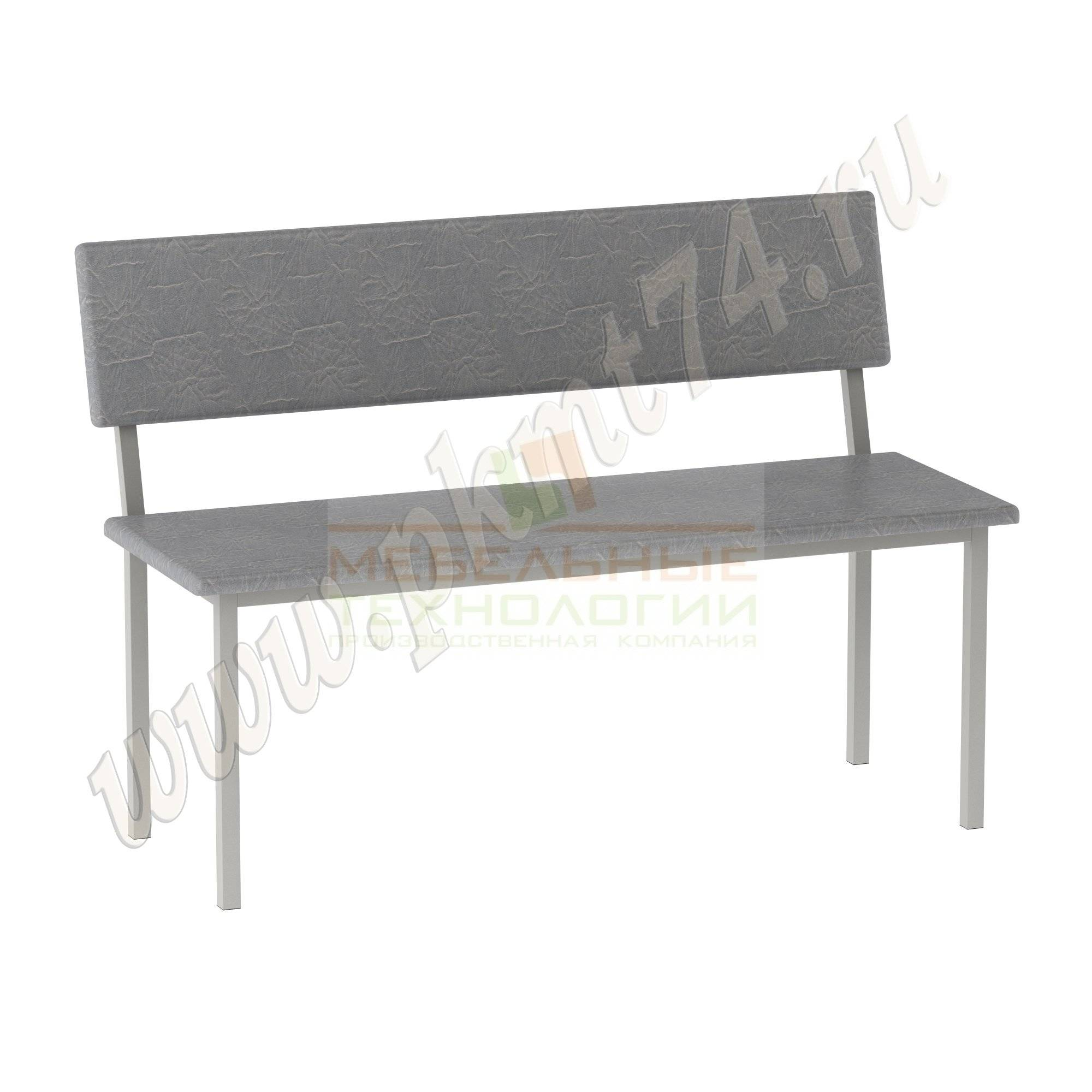 Банкетка с мягким сиденьем и спинкой МТ 05-6-2
