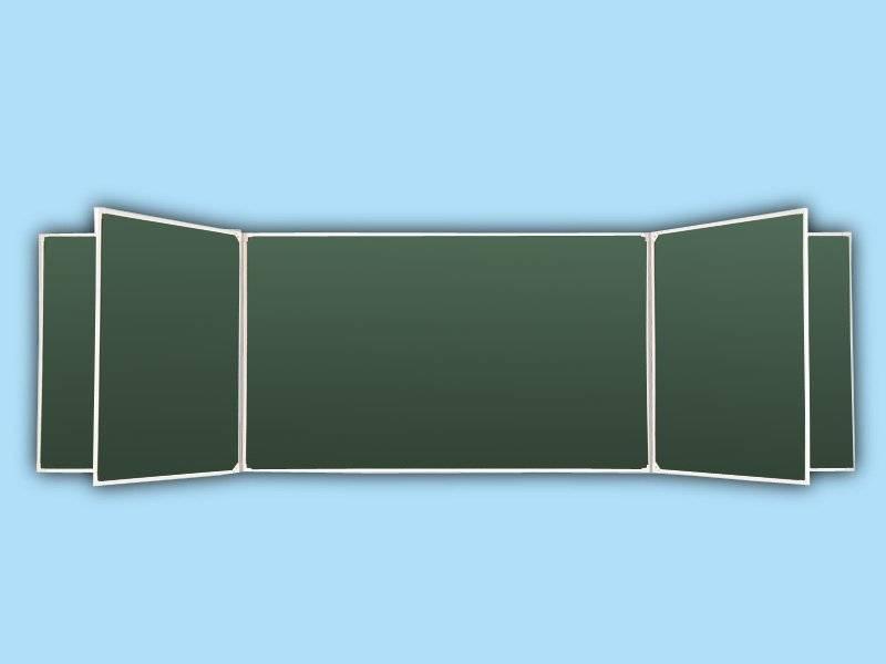 Доска аудиторная пяти элементная зеленая 55 З