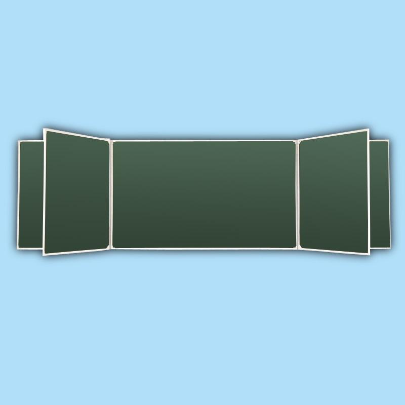 Доска классная пяти элементная зеленая