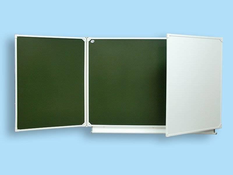 Доска школьная трех элементная комбинированная ДК 30 К