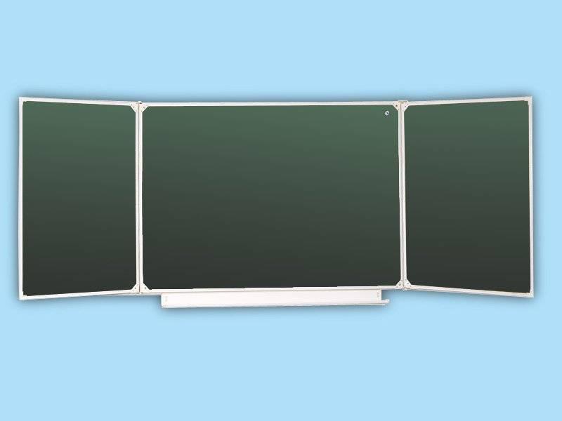 Доска школьная трех элементная зеленая 34 з
