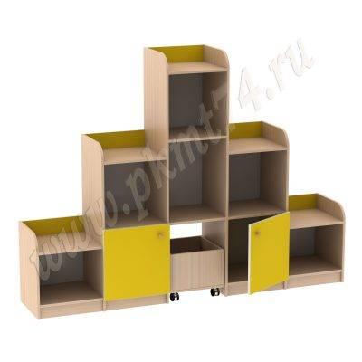 Игровая Горка с ящиком для игрушек МТ 17-23 ДубМол+Жёл