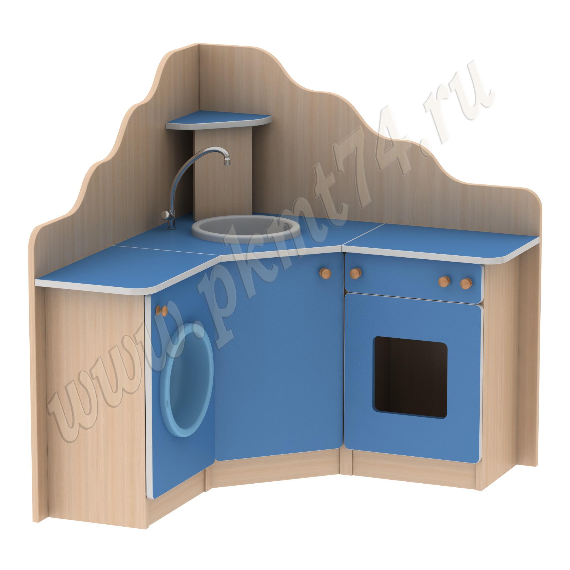 Игровая мебель Угловая кухня МТ 17-40 ДубМол+Син