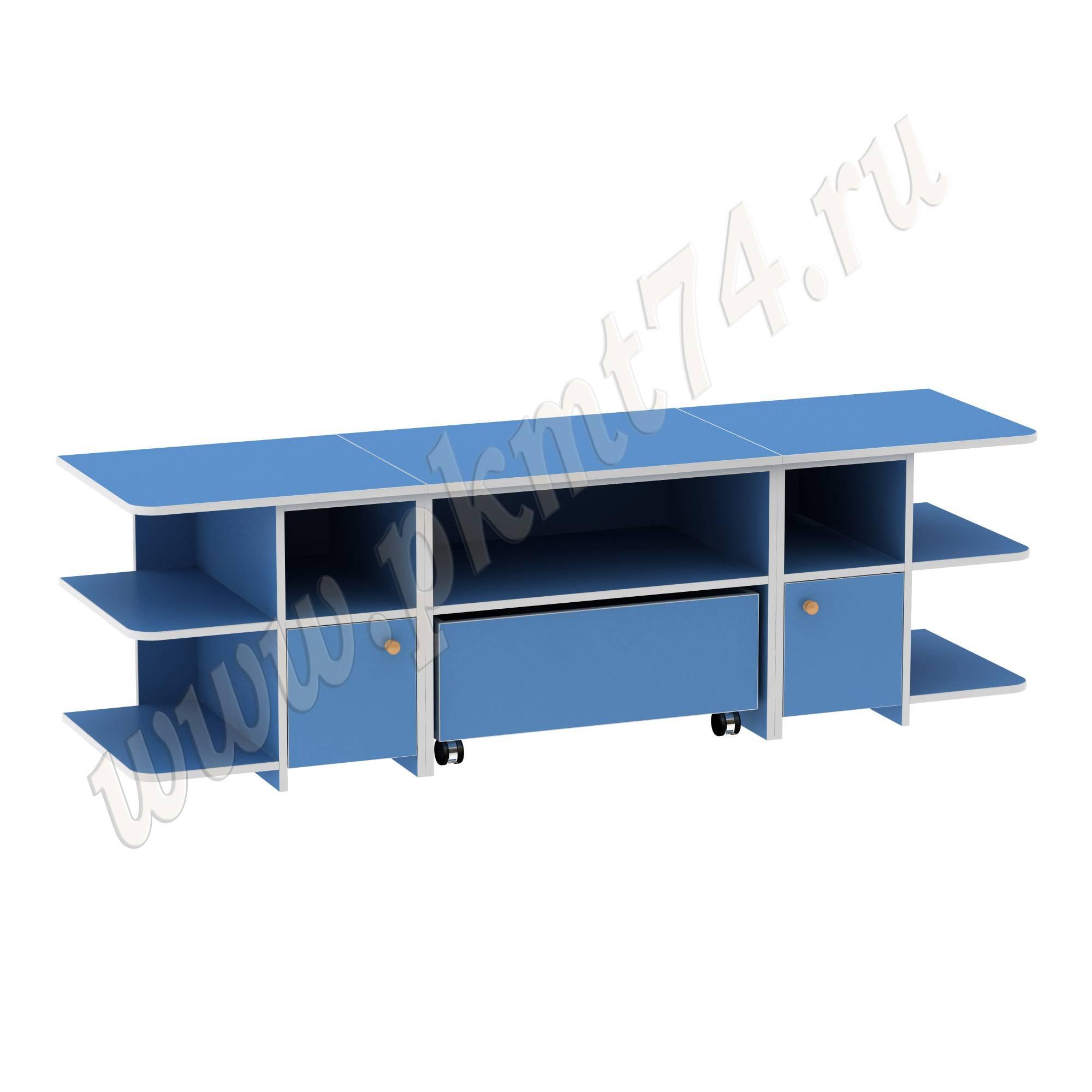 Игровой детский стол с полками для игрушек МТ 17-47 Светлосиний