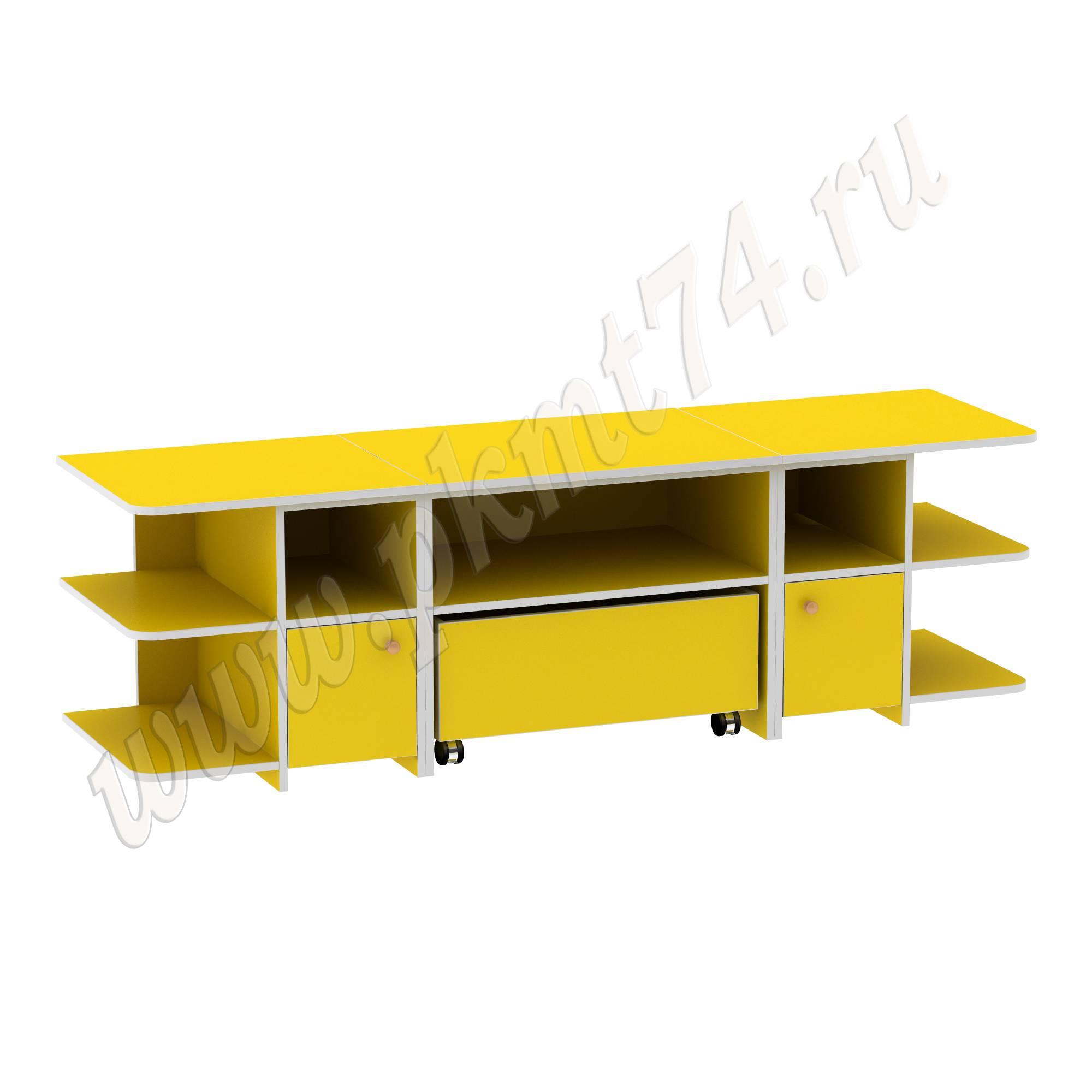Игровой детский стол с полками для игрушек МТ 17-47 Желтый