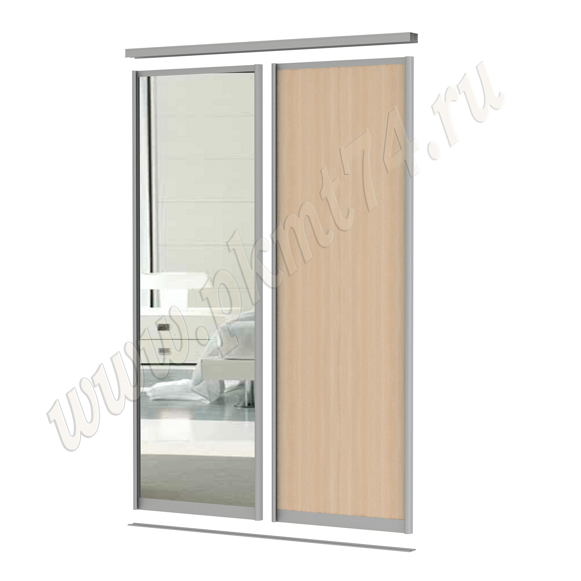 Комбинированные двери для шкафа купе [Размер:: 1700х2500; Цвет ЛДСП:: Клён]
