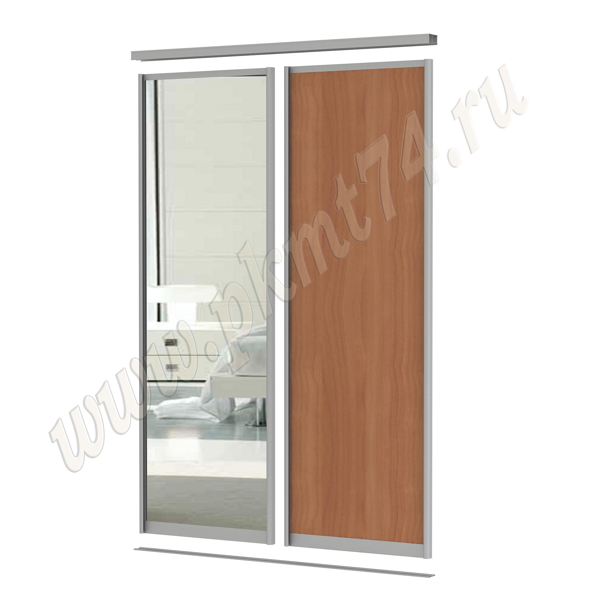 Комбинированные двери для шкафа купе [Размер:: 1700х2500; Цвет ЛДСП:: Вишня Оксфорд]