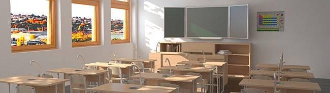 Комплексное оснащение школ мебелью
