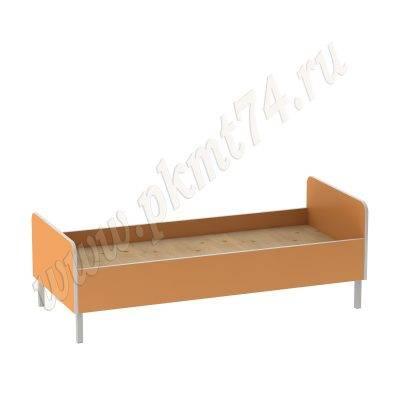 Кровать детская на металлическом каркасе МТ 17-22 Оранжевый