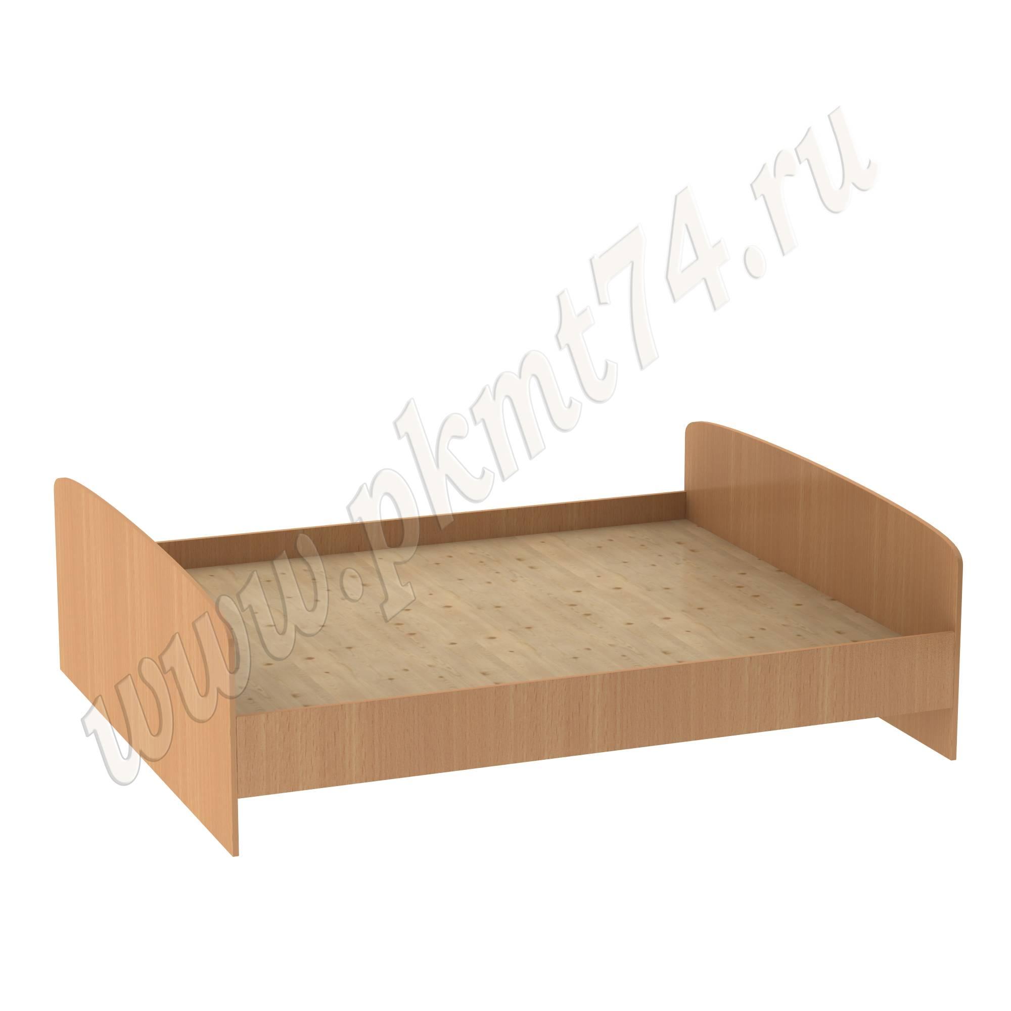 Кровать двухспальная со спинкой ЛДСП МТ 16-4 Бук