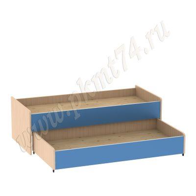 Кровать с двумя ярусами МТ 17-109 ДубМол+Син