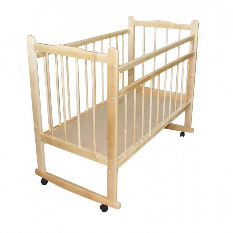 Кровать с ограждением и переменной высотой ложа Мишутка