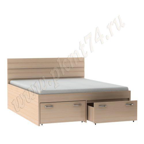 Кровать в спальню с ящиками MT 28-4 Дуб мол.