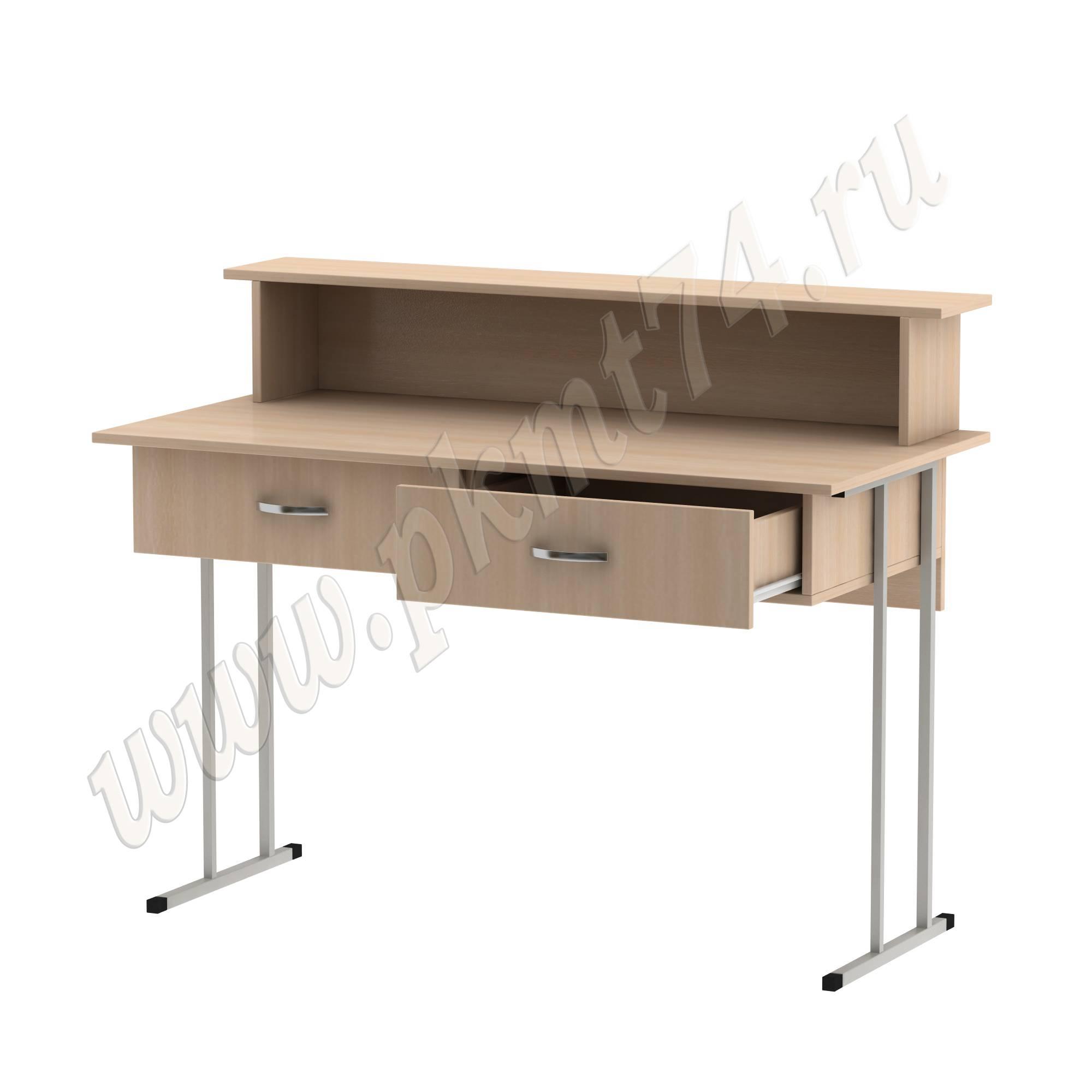 Стол барьер на металлокаркасе [Цвет ЛДСП:: дуб Молочный]