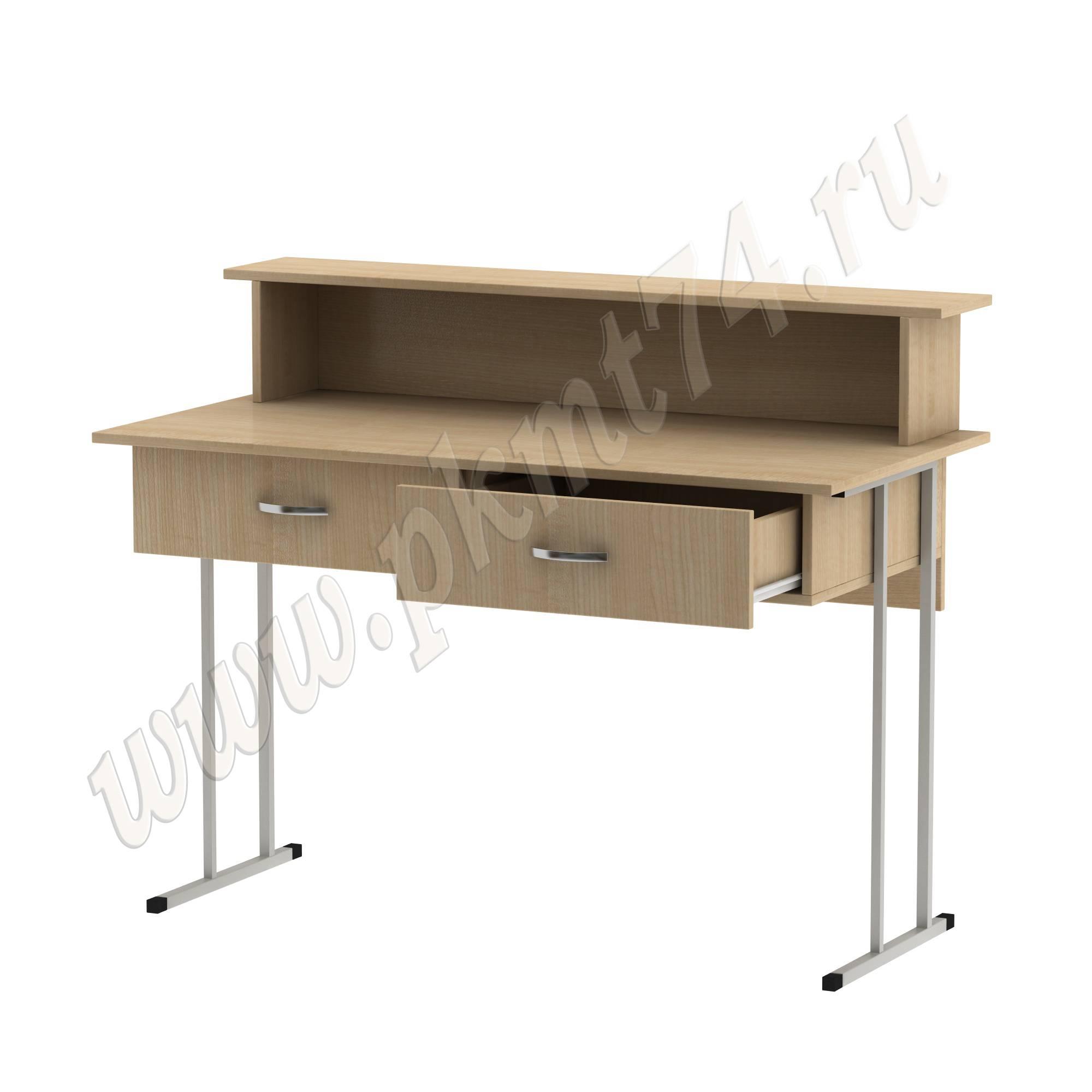 Стол барьер на металлокаркасе [Цвет ЛДСП:: Клён]