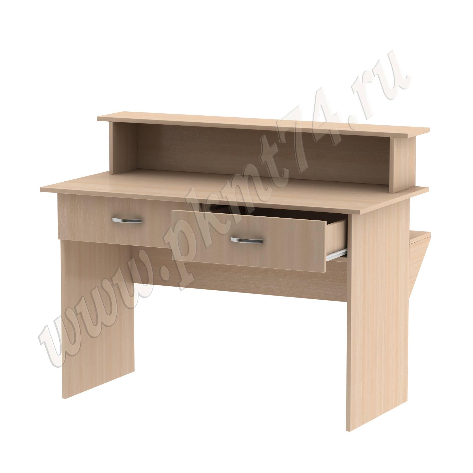 Стол барьер с ящиками под формуляры [Цвет ЛДСП:: дуб Молочный]