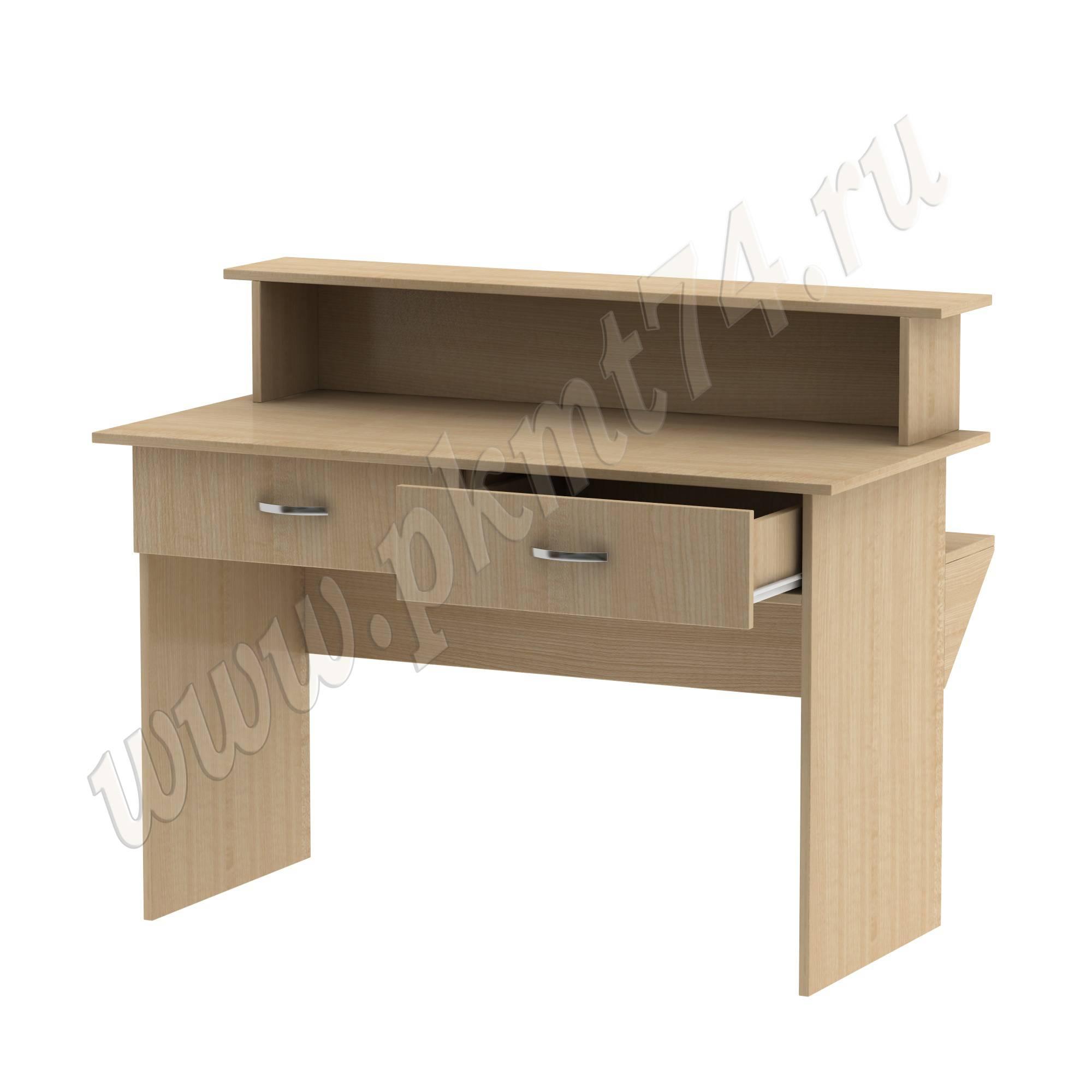 Стол барьер с ящиками под формуляры [Цвет ЛДСП:: Клён]