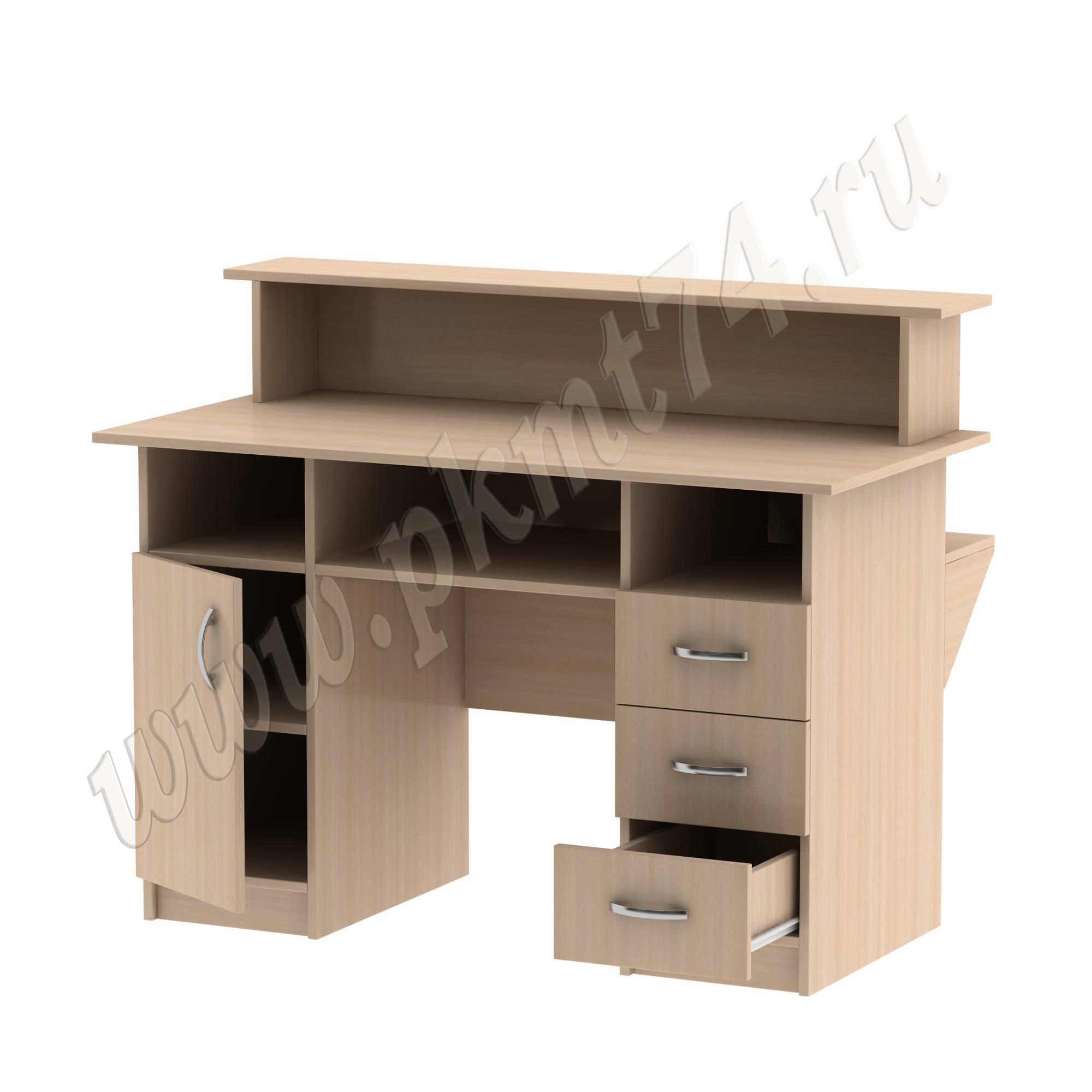 Стол библиотечный с тумбами [Цвет ЛДСП:: дуб Молочный]