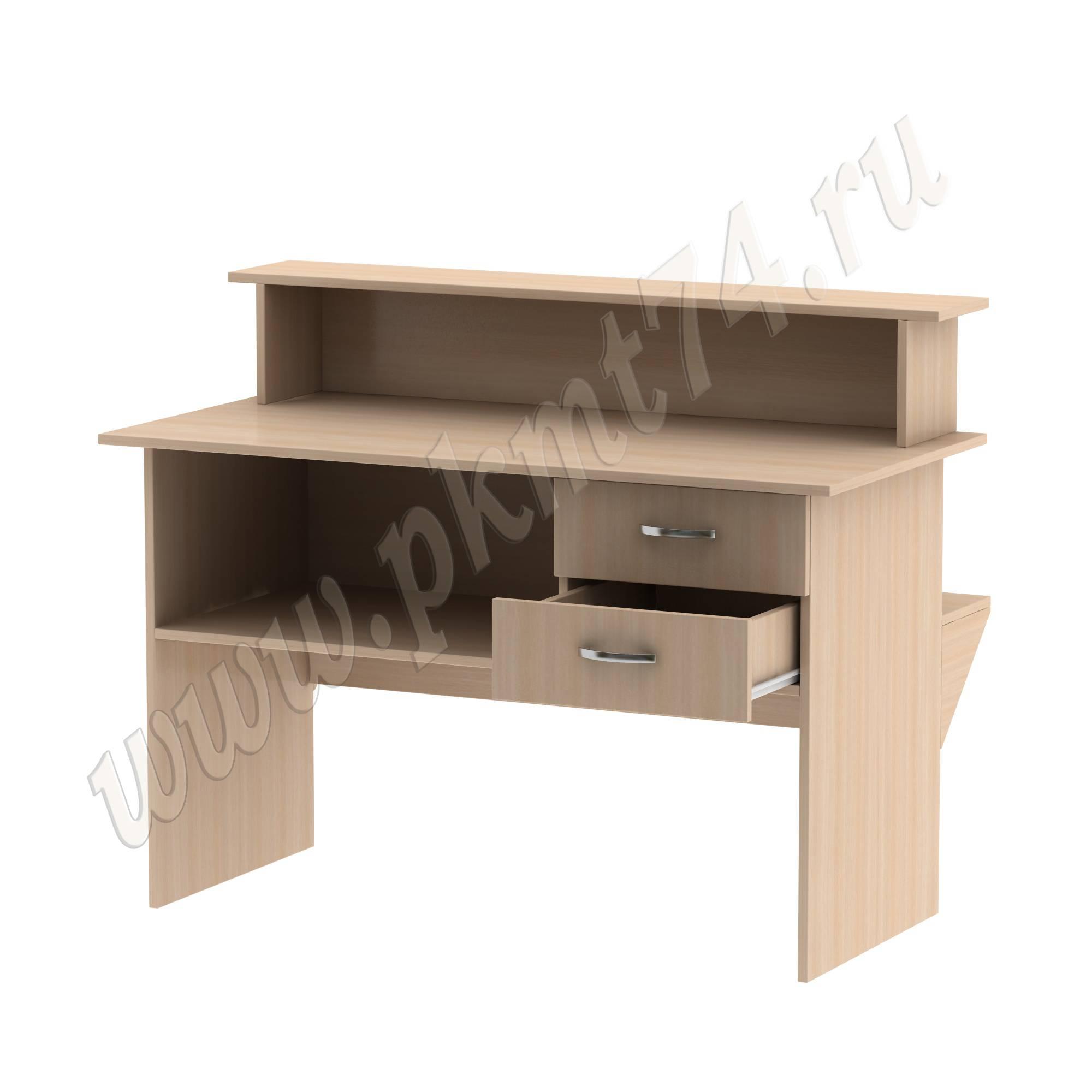 Стол кафедра с ящиками [Цвет ЛДСП:: дуб Молочный]