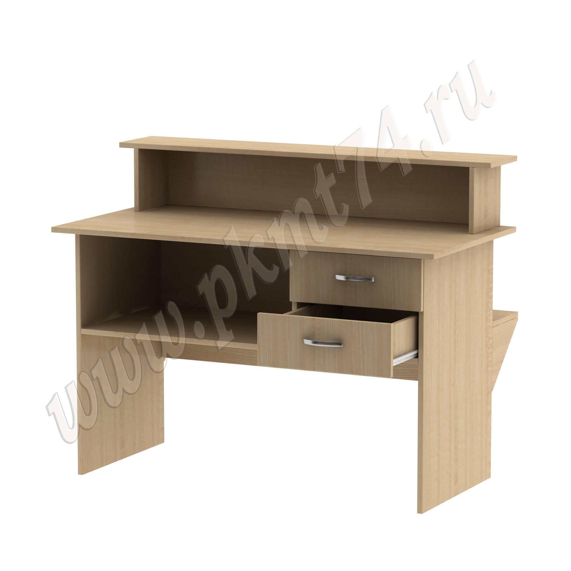 Стол кафедра с ящиками [Цвет ЛДСП:: Клён]