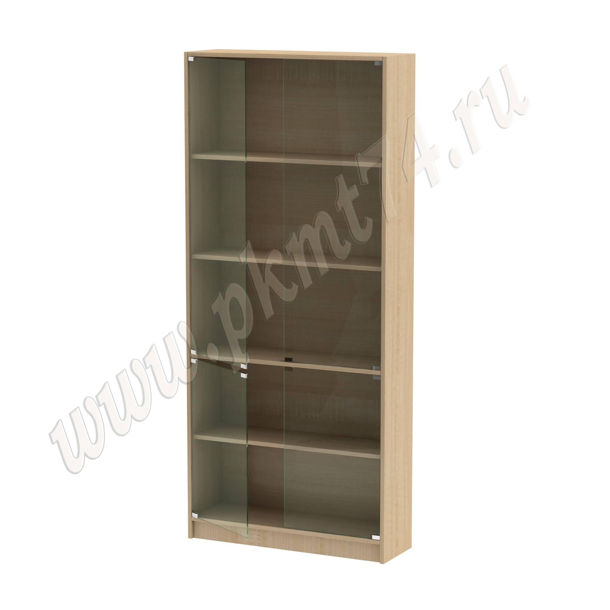 Шкаф витринный со стеклянными дверцами [Цвет ЛДСП:: Клён]