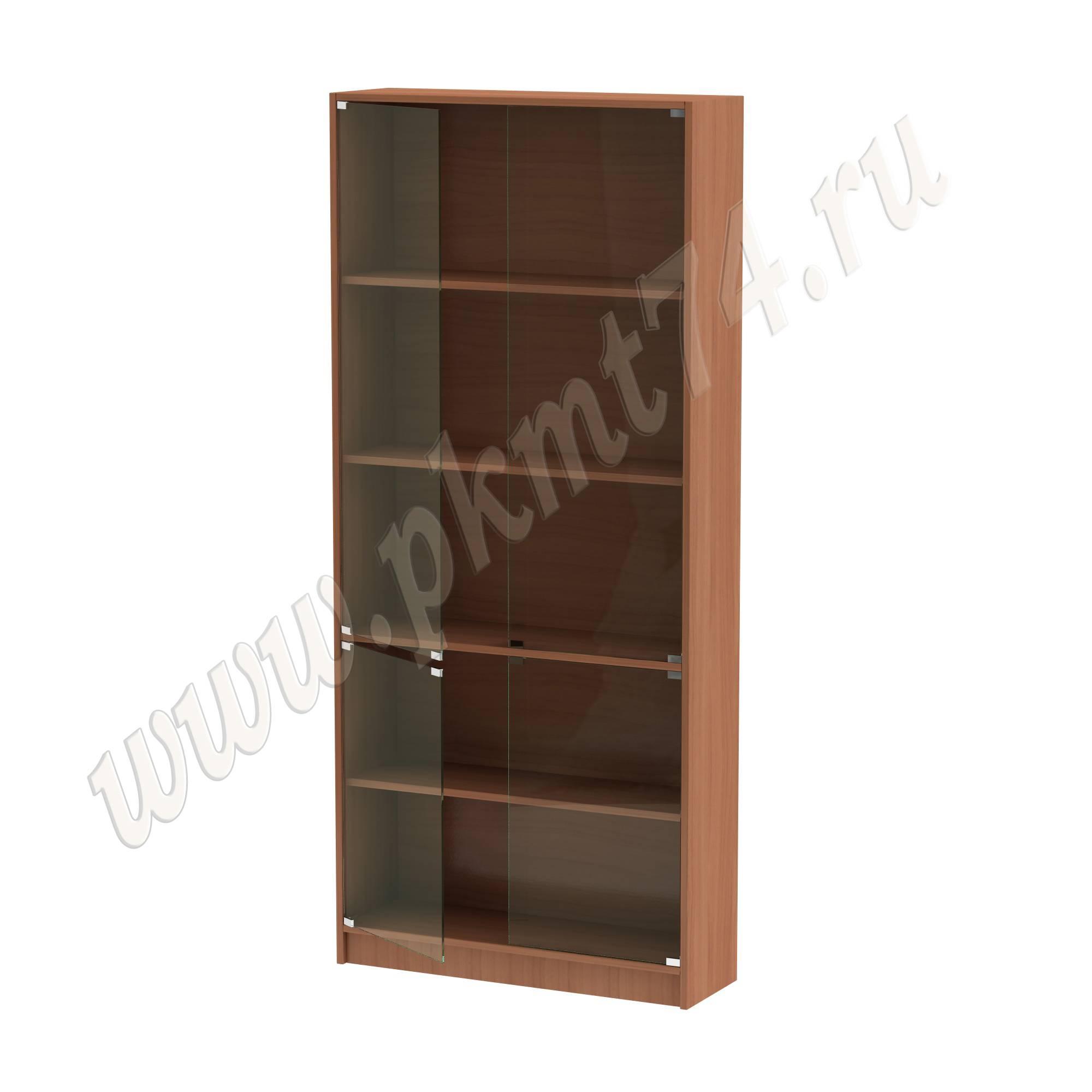 Шкаф витринный со стеклянными дверцами [Цвет ЛДСП:: Вишня Оксфорд]