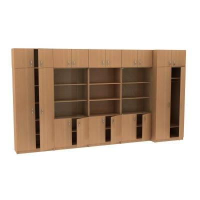 Набор из пяти шкафов с антресолями МТ 14-34-12 Бук