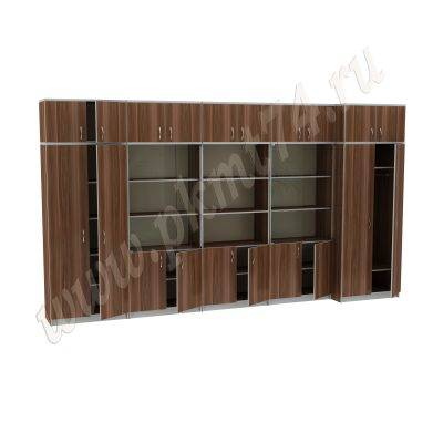 Набор шкафов для офиса МТ 14-34-12 Слива-Алюминий