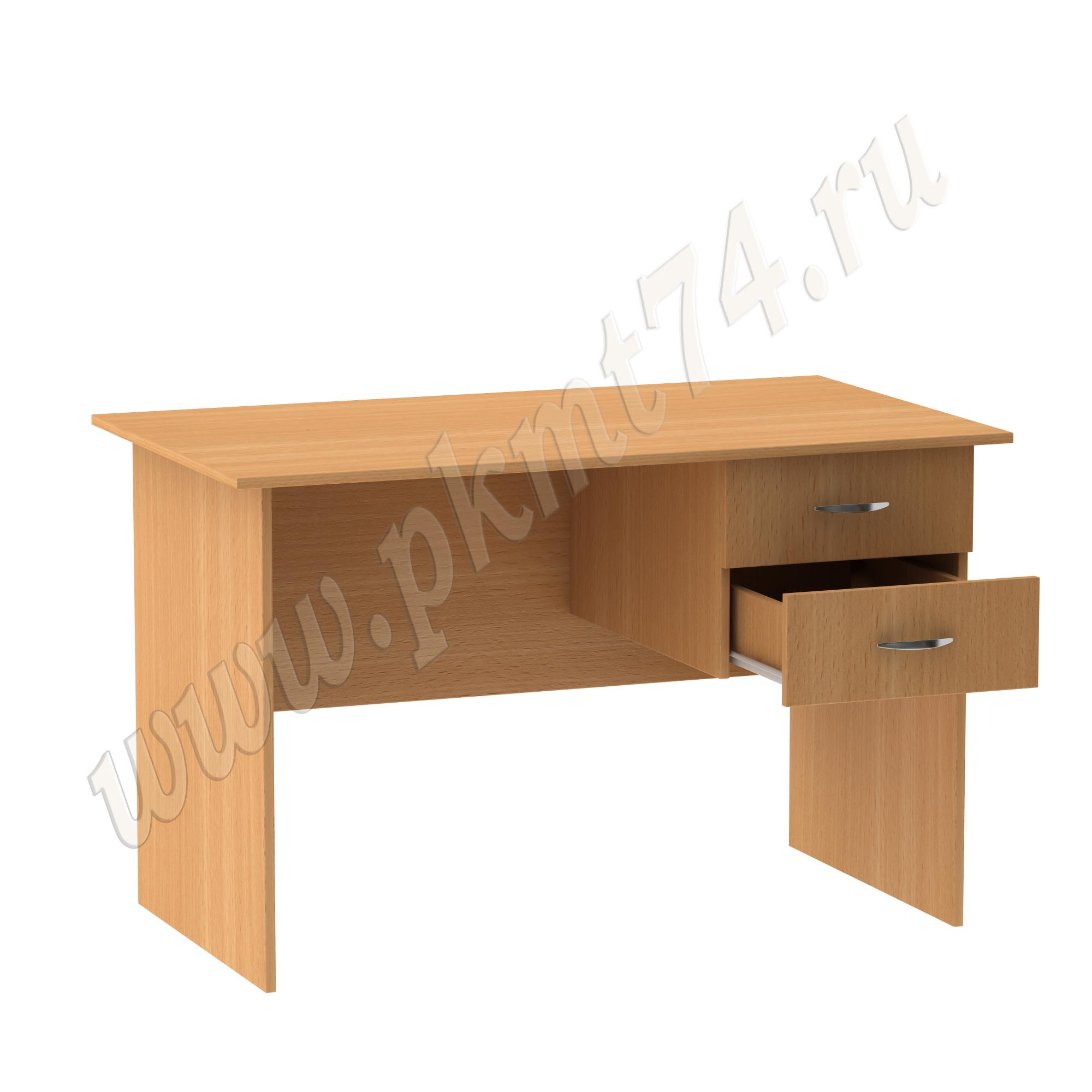 Однотумбовый стол с двумя ящиками МТ 06-8 Бук