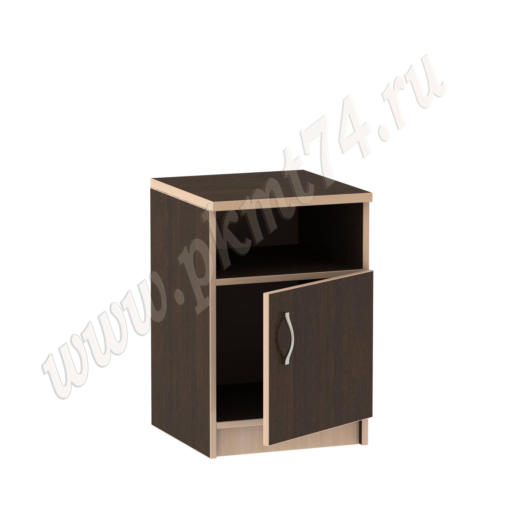 Тумба с нишей и дверкой для офиса [Стандартный цвет:: Орех; Цвета ЛДСП на выбор:: Венге-Молочный]