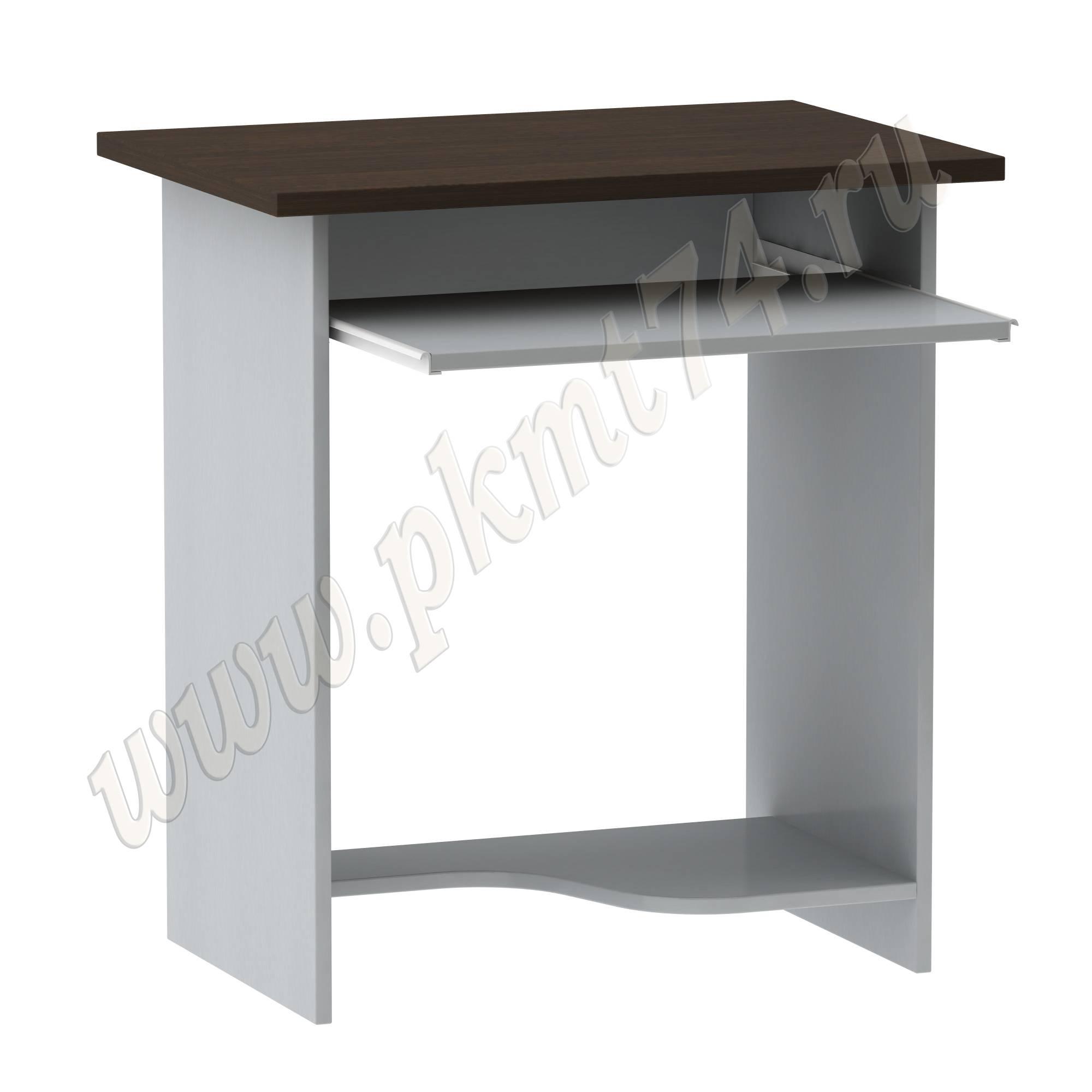 Компьютерный стол [Стандартный цвет:: Орех; Цвета ЛДСП на выбор:: Алюминий-Венге]