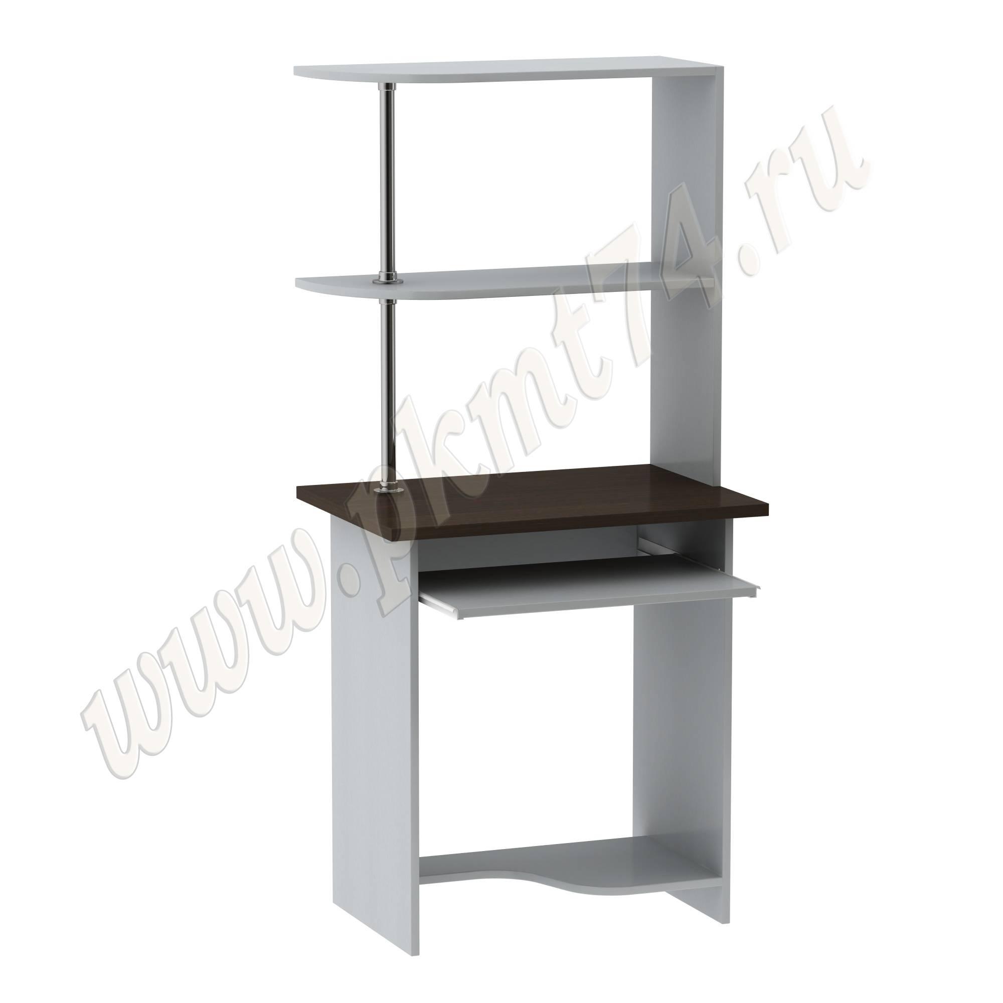 Стол для ноутбука с надставкой [Цвета ЛДСП на выбор:: Алюминий-Венге]
