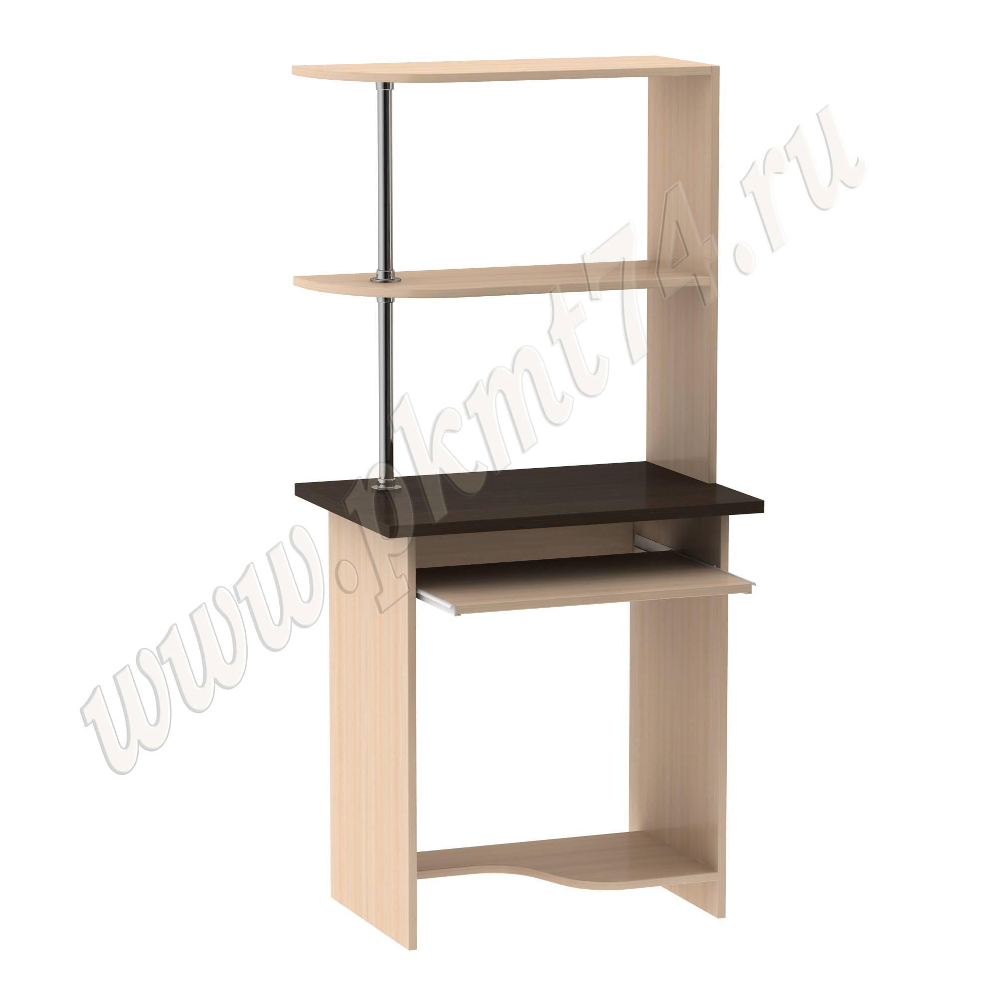 Стол для ноутбука с надставкой [Цвета ЛДСП на выбор:: Молочный-Венге]