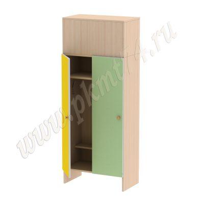 Шкаф детский двухместный МТ 17-14 Жёлтый-Салатовый