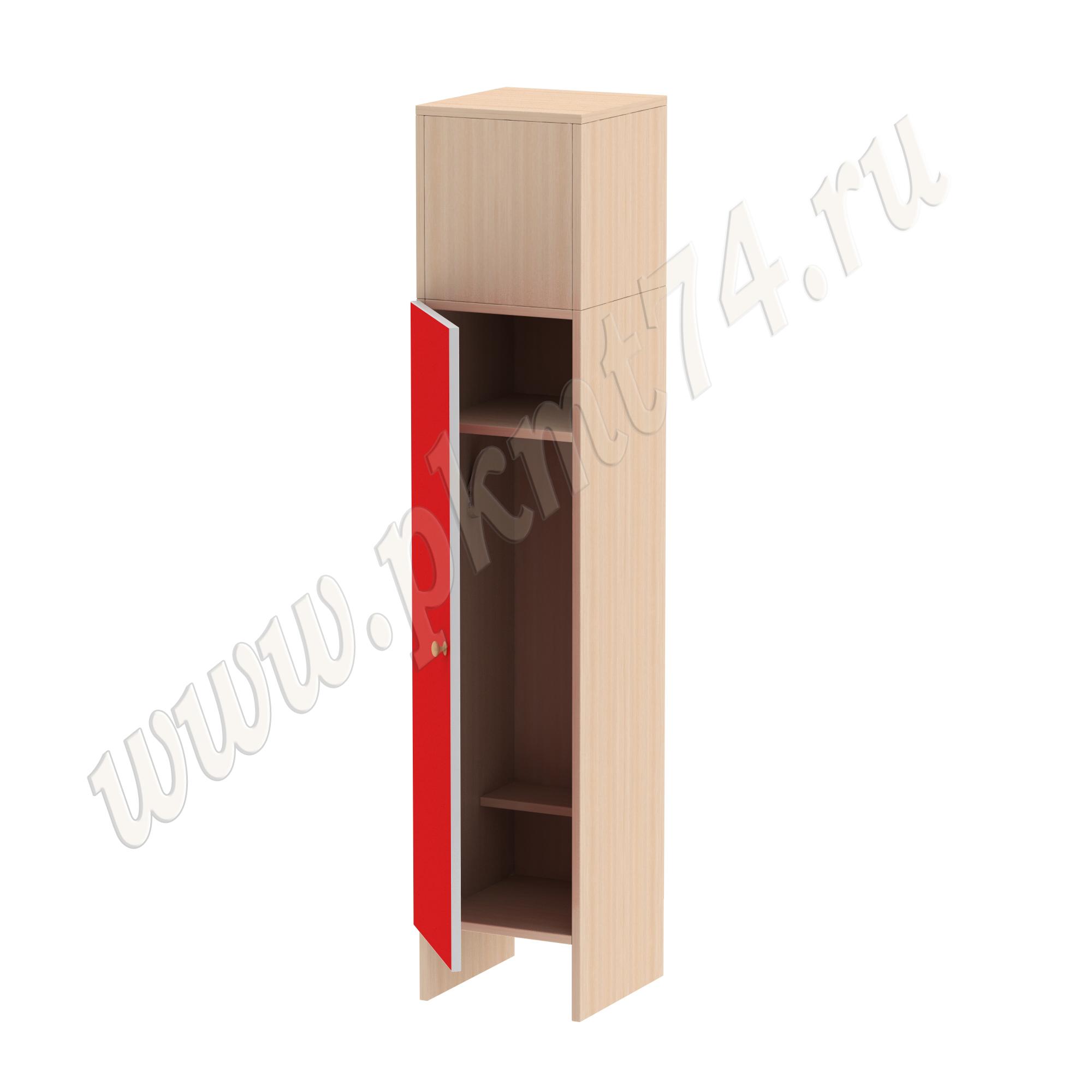 Шкаф детский одностворчатый МТ 17-13 с коробом Красный