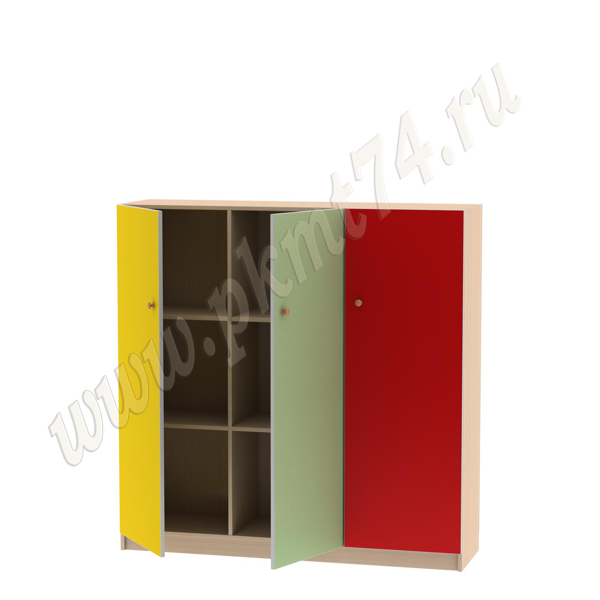 Шкаф для белья МТ 17-17 ДубМол-Жел-Салат-Красн