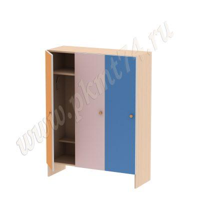 Шкаф для детей трехместный без короба МТ 17-15 Оранж-Роз-Син