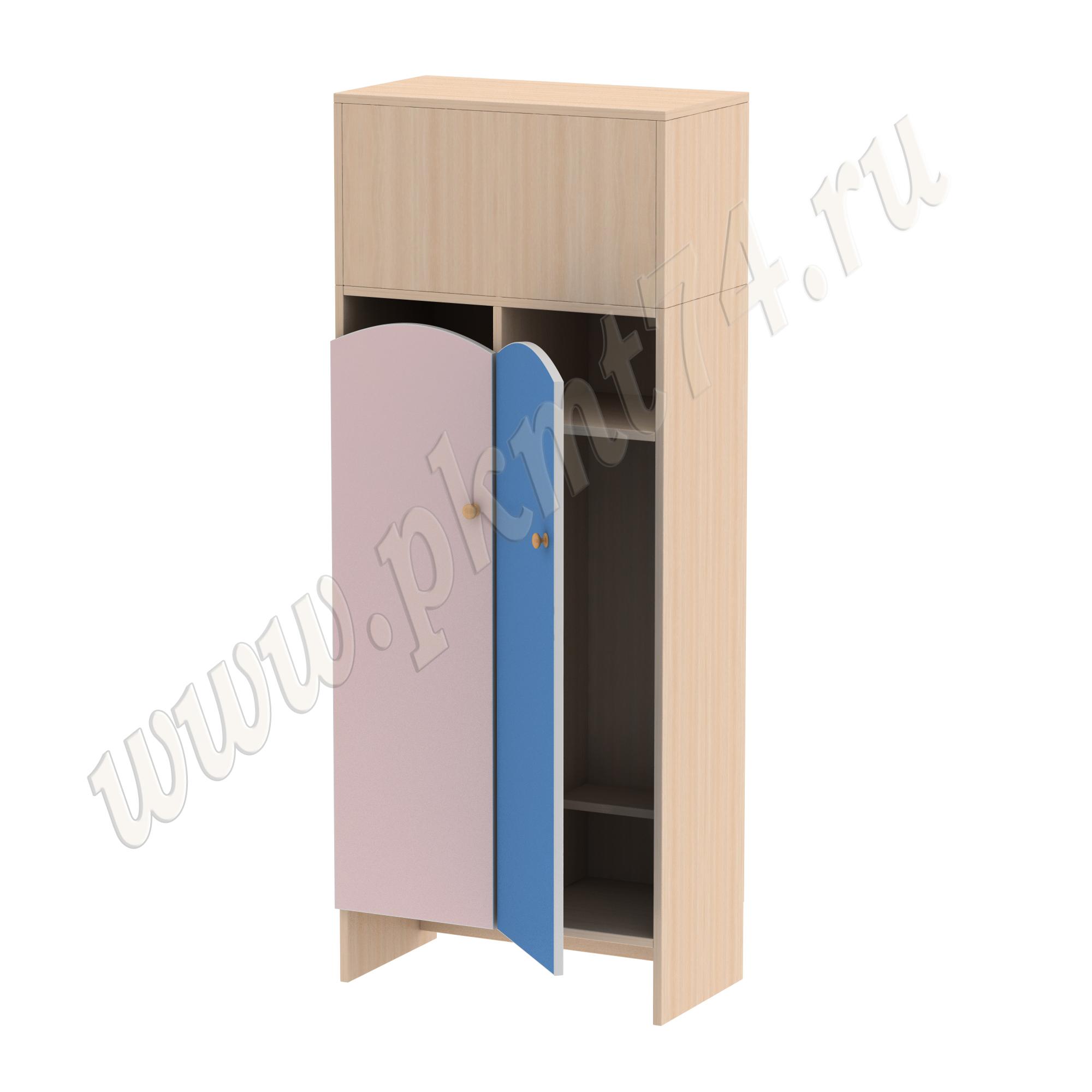 Шкаф для детской одежды МТ 17-98 Дуб Мол-Ирис-Голуб