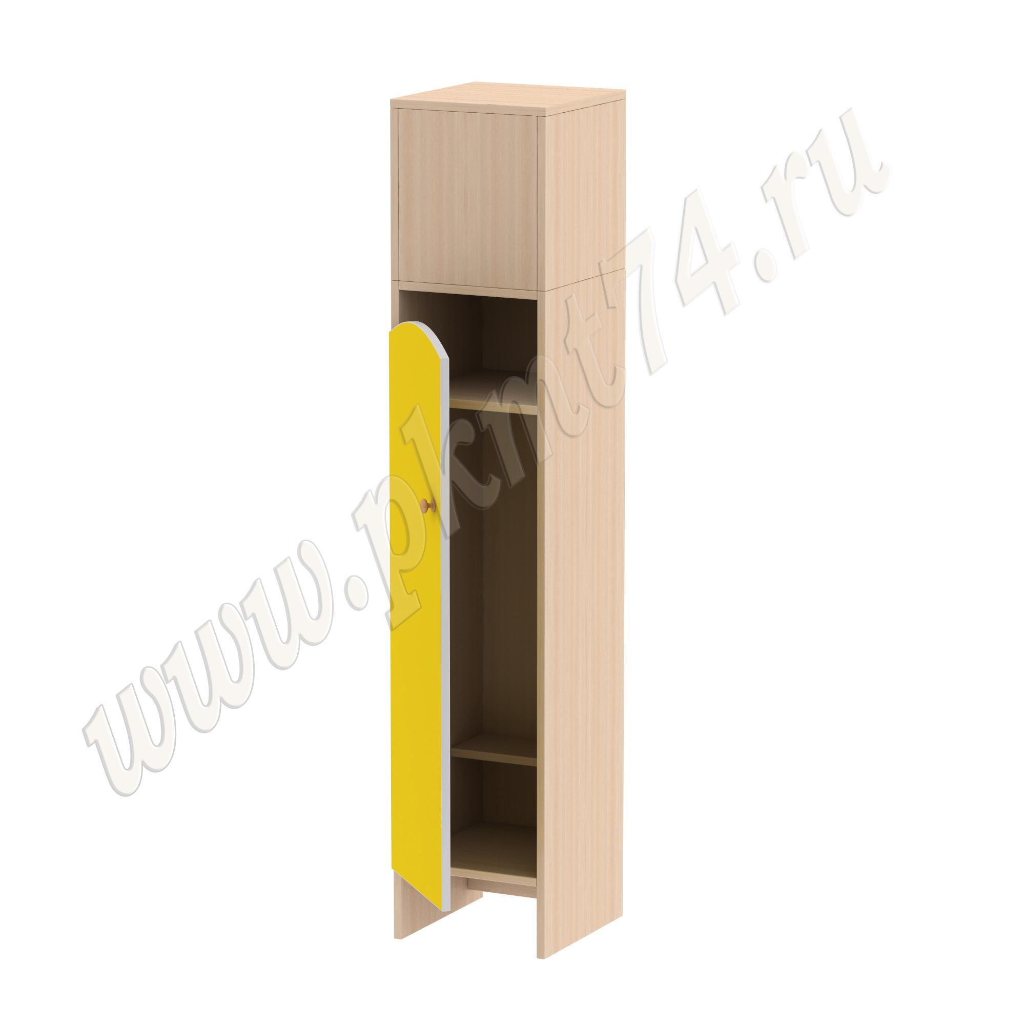 Шкаф для детской одежды Волна 1 МТ 17-99 Дуб Молочный-Желтый