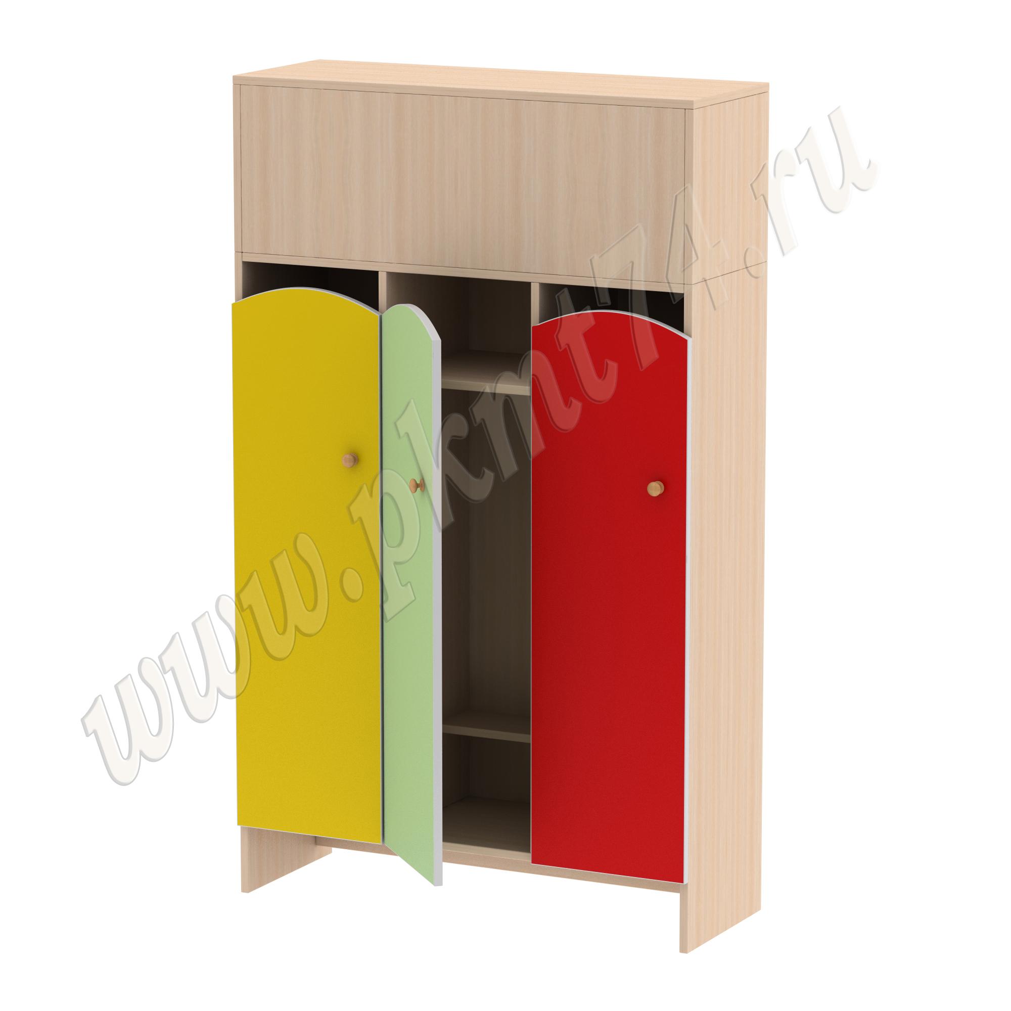 Шкаф для детской одежды Волна 3 МТ 17-97 Жел-Салат-Кр