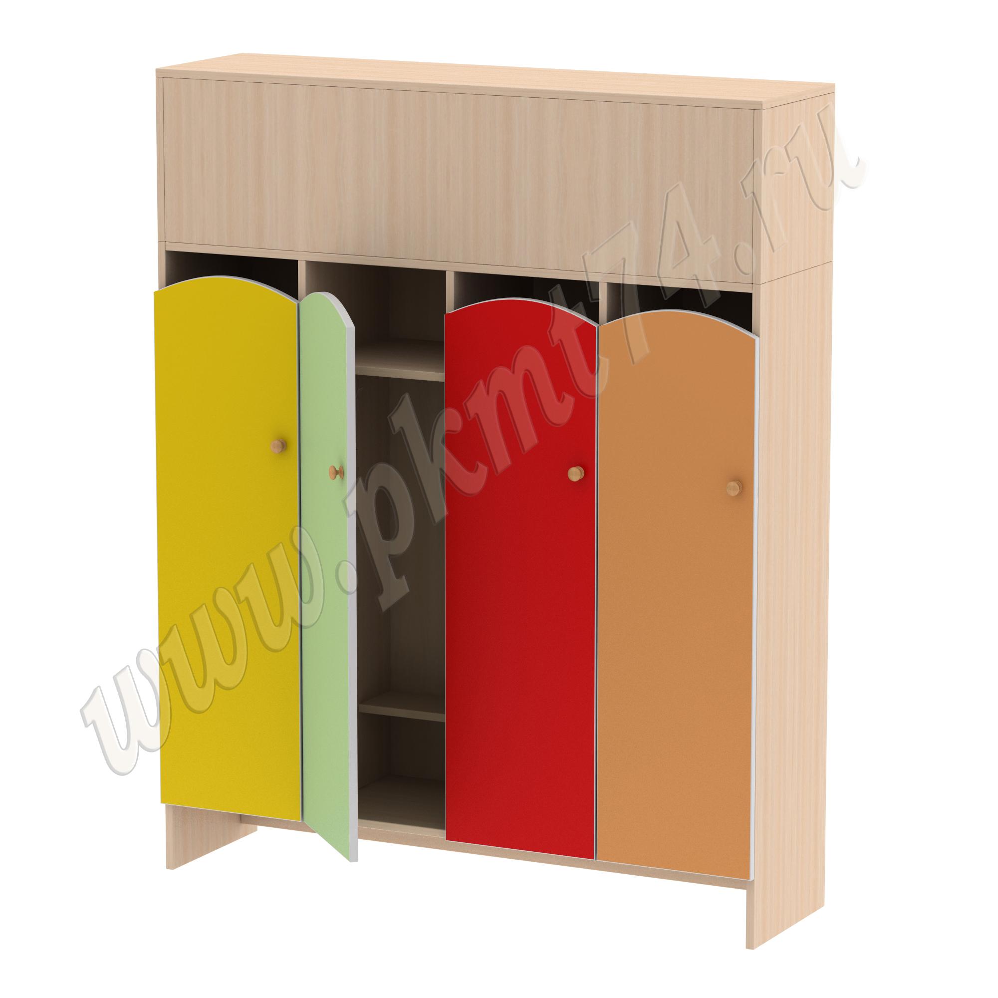 Шкаф для детской одежды от 3 до 7 лет МТ 17-96 ДубМол-Жел-Салат-Кр-Оранж