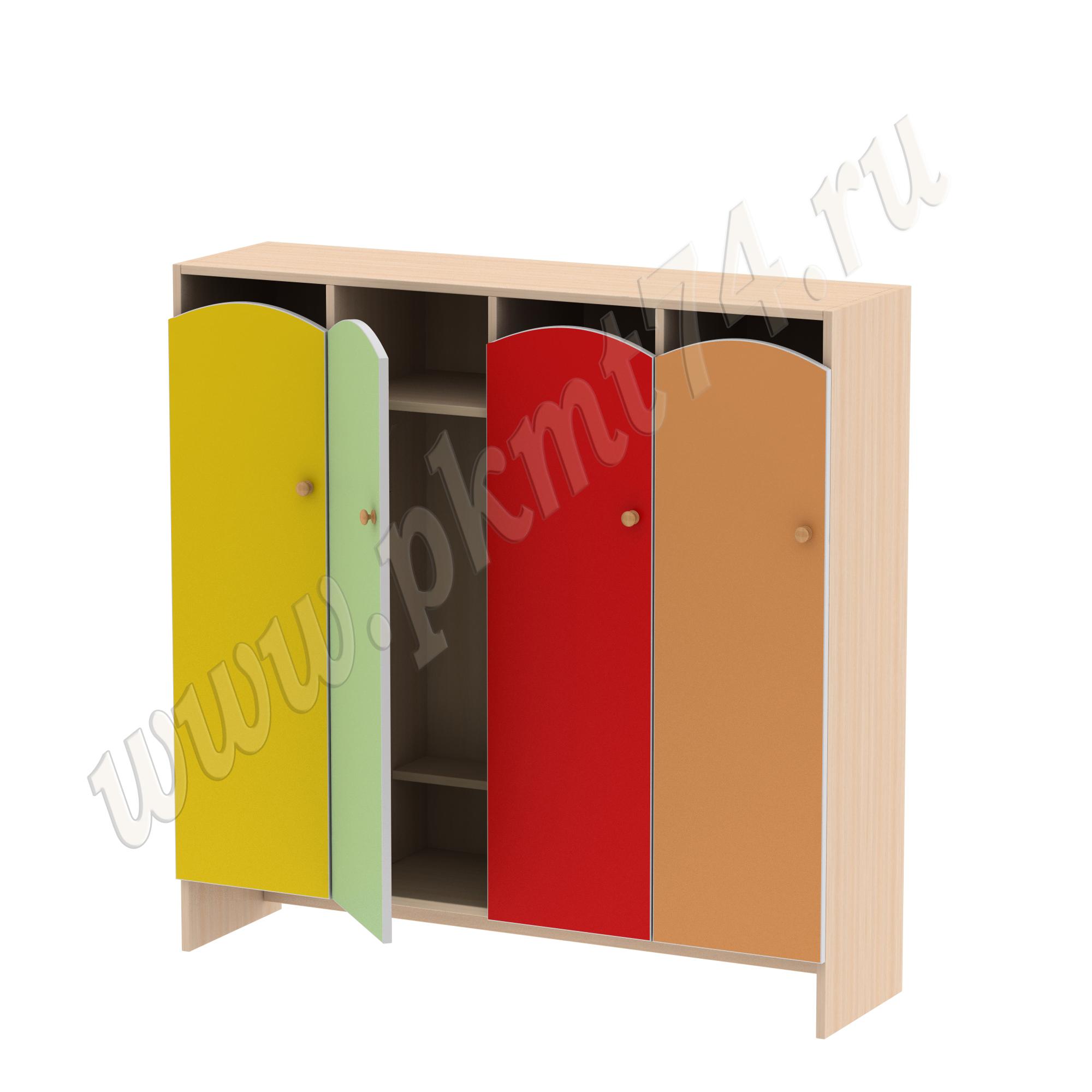 Шкаф для детской одежды от 3 до 7 лет без короба МТ 17-96 Дуб Мол-Жел-Салат-Кр-Оранж