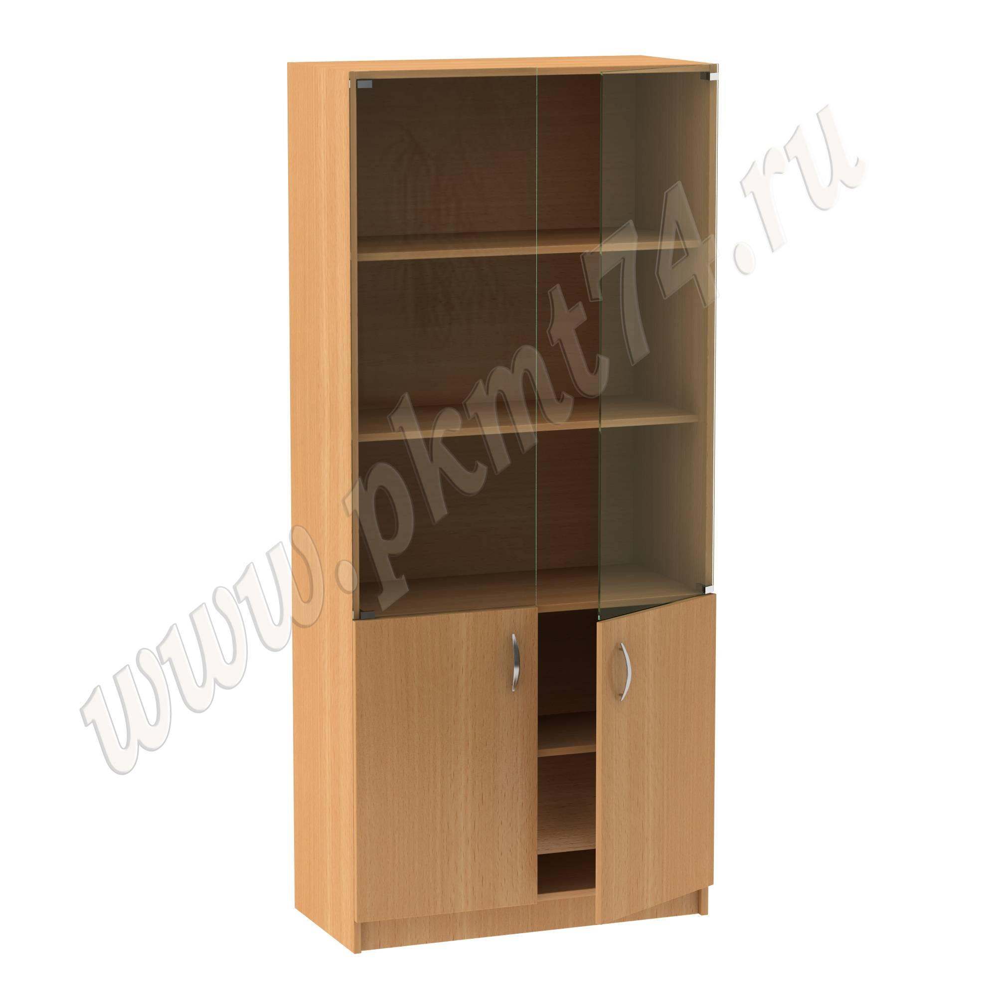 Шкаф для документов закрытый со стеклом МТ 14-4 Бук