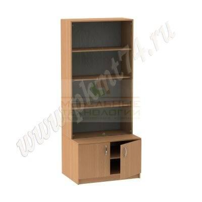 Шкаф для экспозиции школьного музея MT 12-11 Бук