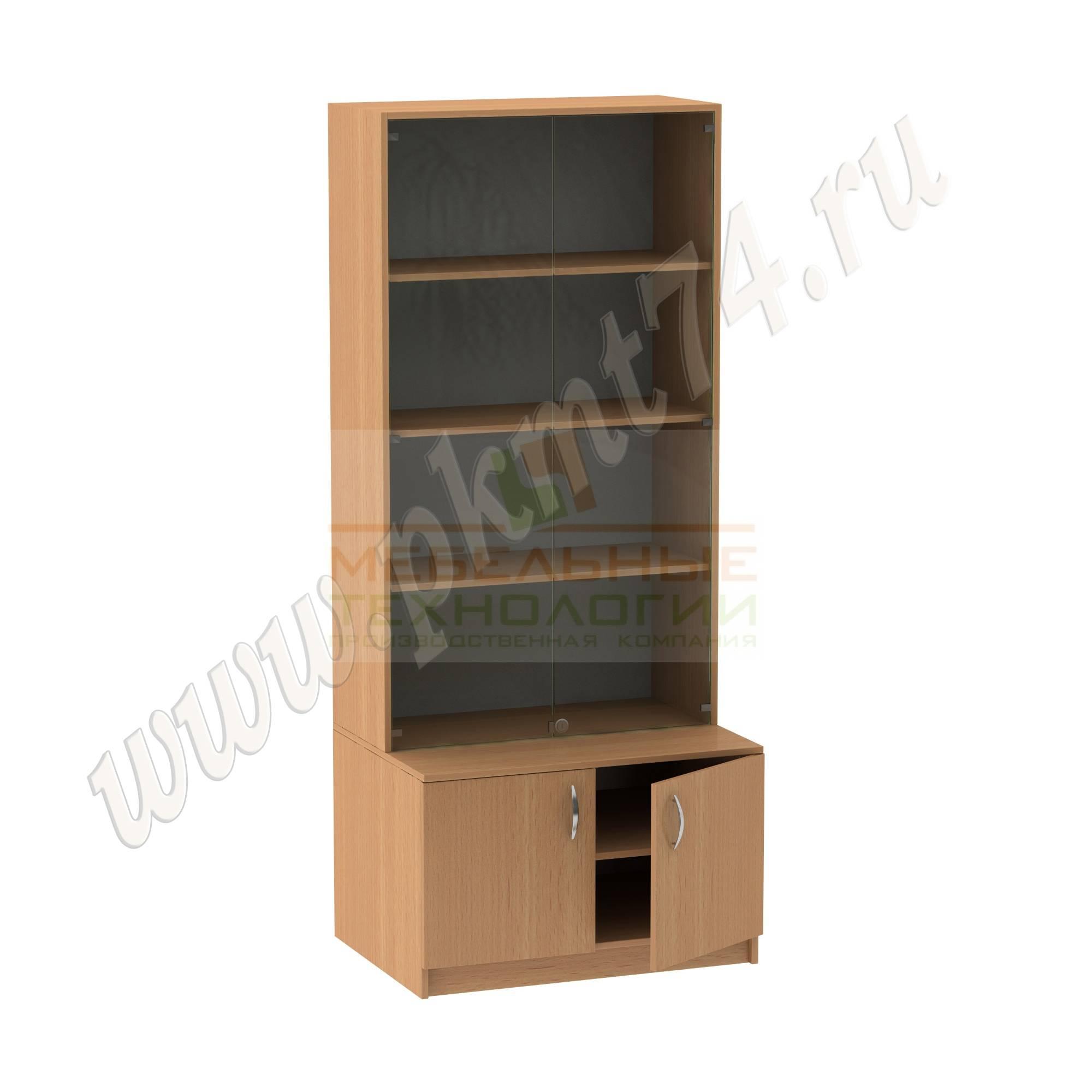 Шкаф для экспозиций школьного музея [Цвет ЛДСП:: бук Бавария светлый]