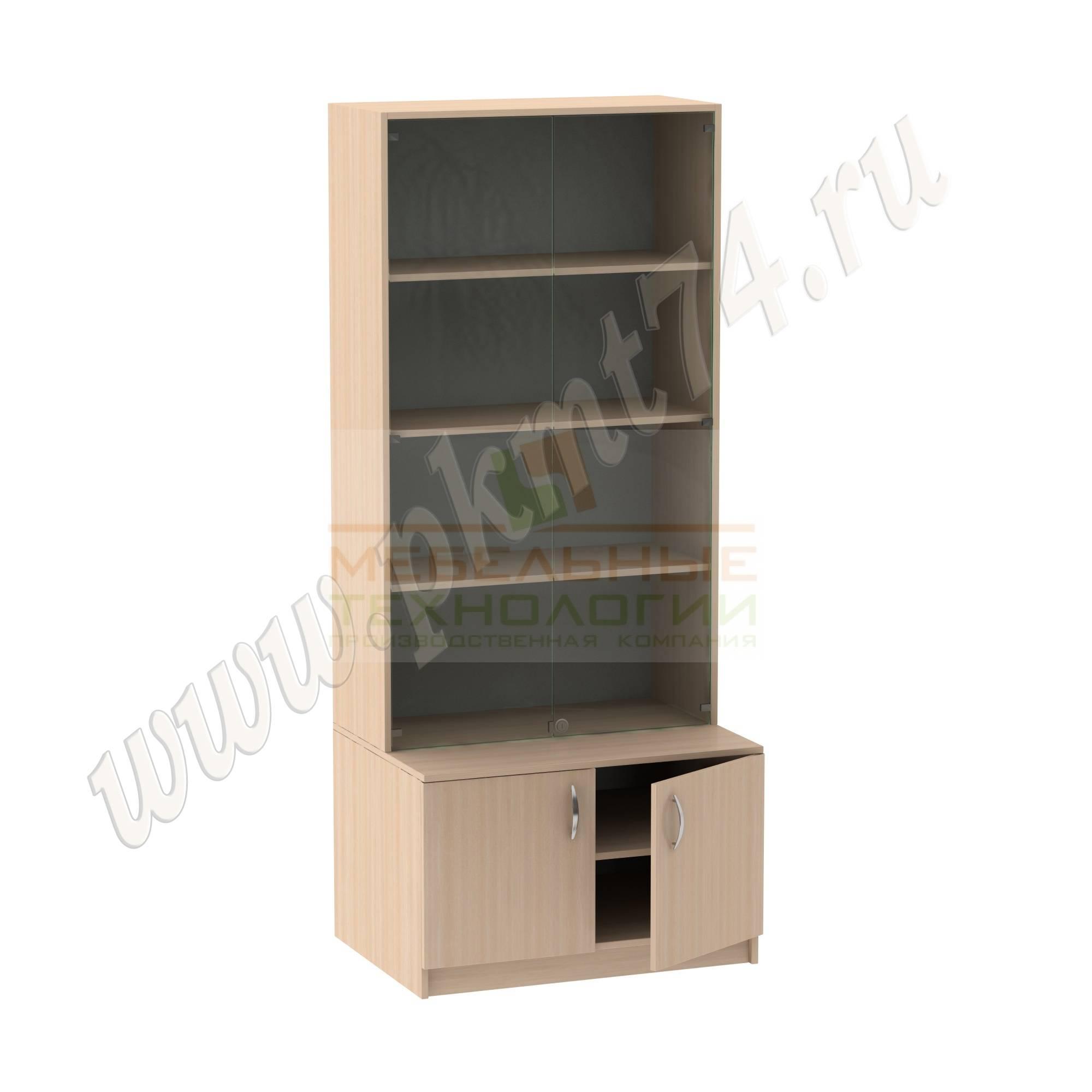 Шкаф для экспозиций школьного музея [Цвет ЛДСП:: дуб Молочный]