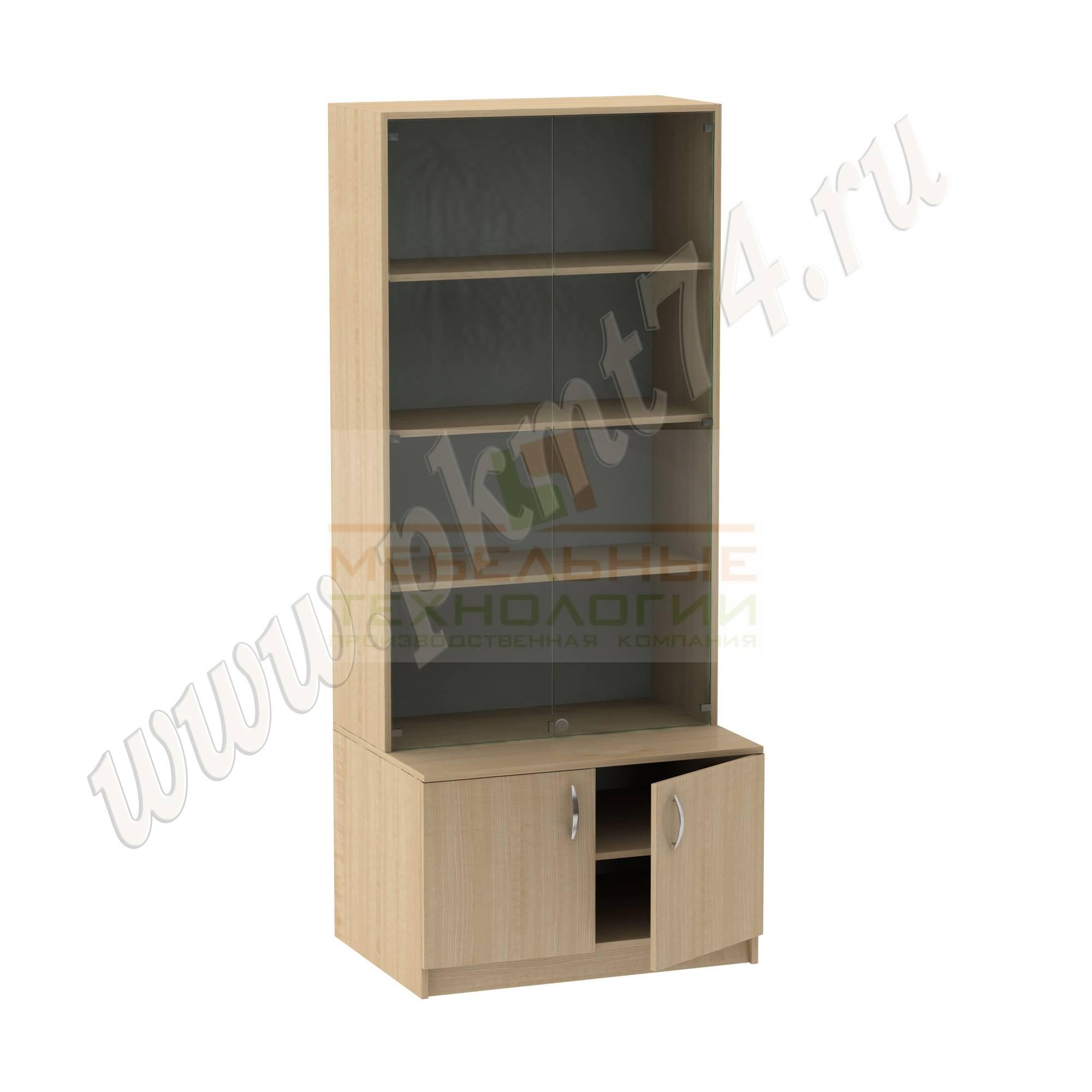 Шкаф для экспозиций школьного музея [Цвет ЛДСП:: Клён]
