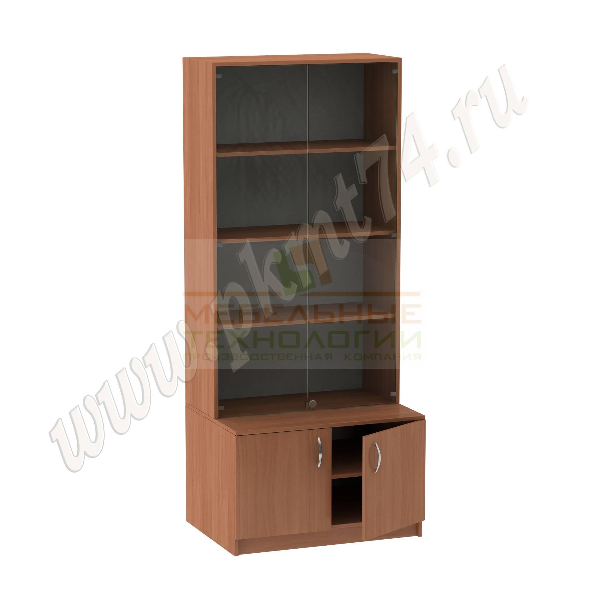 Шкаф для экспозиций школьного музея [Цвет ЛДСП:: Вишня Оксфорд]