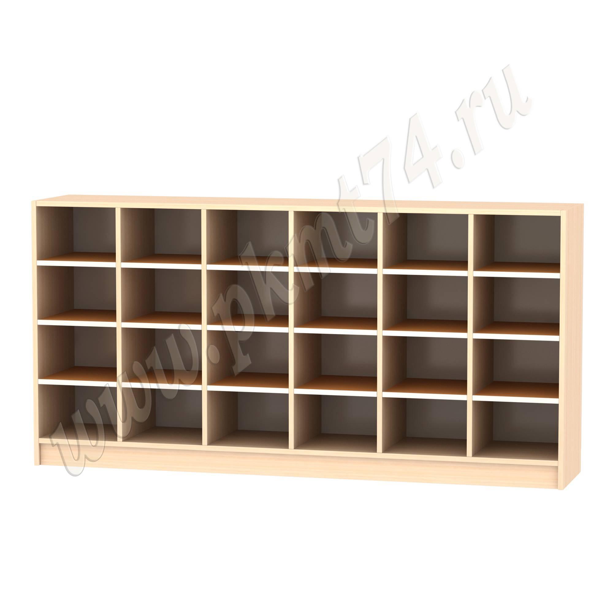 Шкаф для горшков 24 ячейки МТ 17-42 ДубМол-Оранж
